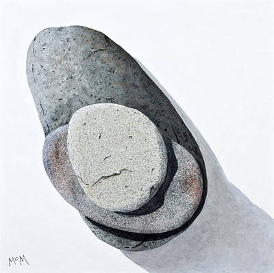 Painting - Stacked Cairn by Garry McMichael