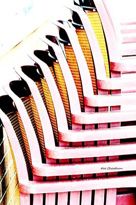 Manipulation Photograph - Stacked Chairs Abstract by Kae Cheatham