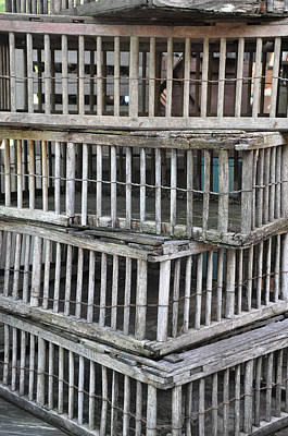 Photograph - Stacked Crates by Jan Amiss Photography