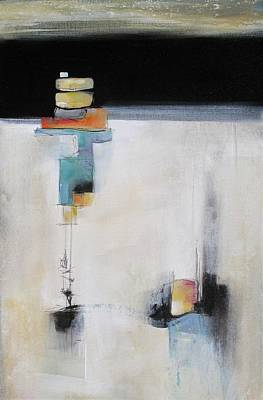 Multi Colored Painting - Stacked by Karen Hale