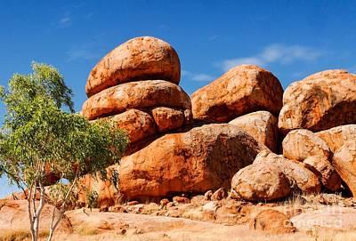 Photograph - Stacked - Karlu Karlu - Devils Marbles, Northern Territory by Lexa Harpell