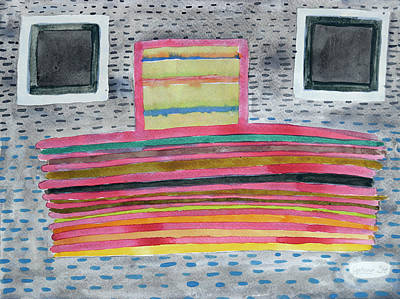 Stacked Lines And Squares Original by Heidi Capitaine