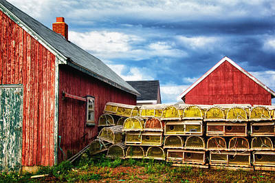 Photograph - Stacked Lobster Traps by Carolyn Derstine