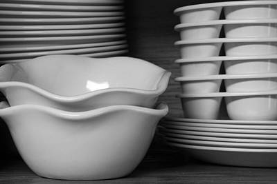 Bowl Forms Photograph - Stacked by Lyle Hatch
