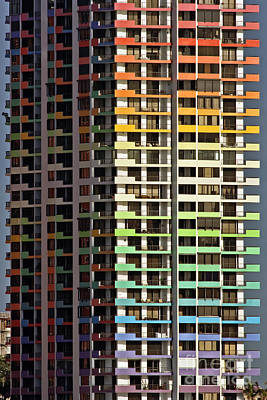 Aqua Condominiums Photograph - Stacked Rainbow by Frank Boellmann
