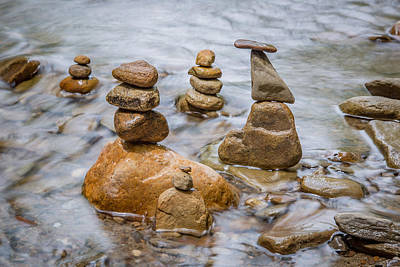 Photograph - Stacked Rocks by Dale Kincaid
