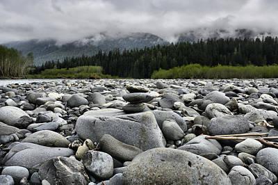 Photograph - Stacked Rocks by Jason Brooks