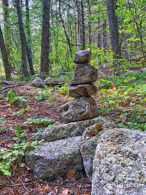 Photograph - Stacked Rocks by Tony Baca