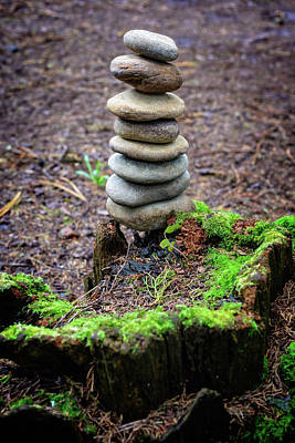 Photograph - Stacked Stones And Fairy Tales II by Marco Oliveira
