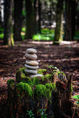 Photograph - Stacked Stones And Fairy Tales IIi by Marco Oliveira