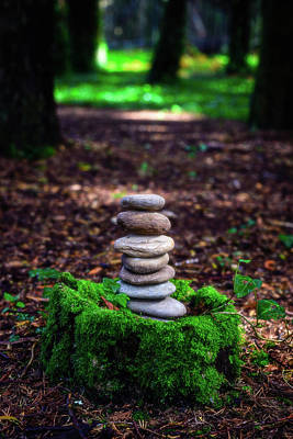 Photograph - Stacked Stones And Fairy Tales Iv by Marco Oliveira