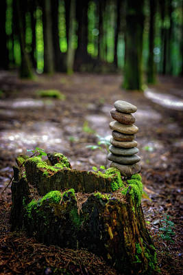 Photograph - Stacked Stones And Fairy Tales by Marco Oliveira