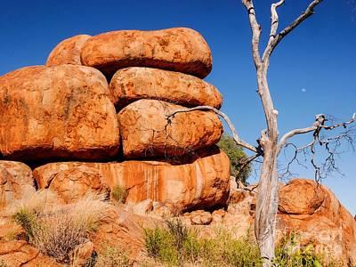 Photograph - Stacked Up -  - Karlu Karlu - Devils Marbles, Northern Territory by Lexa Harpell