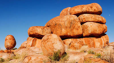 Photograph - Stacked Up - Karlu Karlu - Devils Marbles, Northern Territory by Lexa Harpell