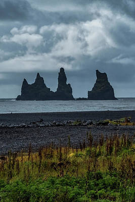 Photograph - Stacks At Vik Beach by Tom Singleton