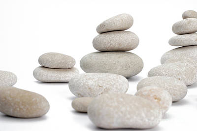 Balance Of Nature Photograph - Stacks Of Smooth Pebble Stones by Sami Sarkis