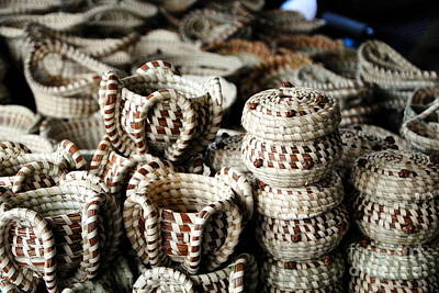 Photograph - Stacks Of Sweetgrass Baskets by Jacqueline M Lewis