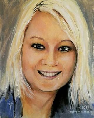 Painting - Stacy by Jodie Marie Anne Richardson Traugott          aka jm-ART