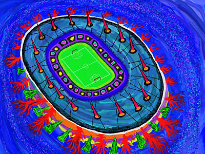 Painting - Stade De France by Robert SORENSEN