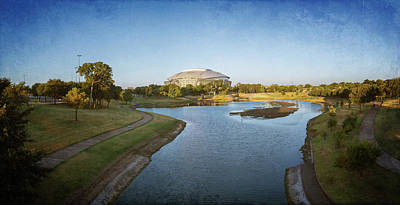Stadium And Park Panorama Bleach Bypass Art Print