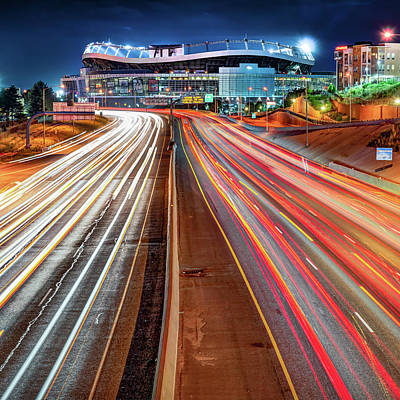 Photograph - Stadium At Mile High - Denver Colorado - Square Format by Gregory Ballos