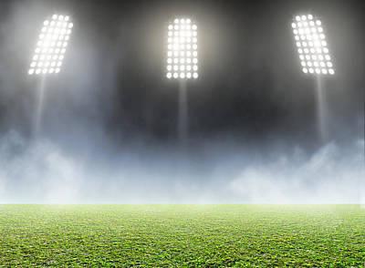 Turf Digital Art - Stadium Outdoor Floodlit by Allan Swart
