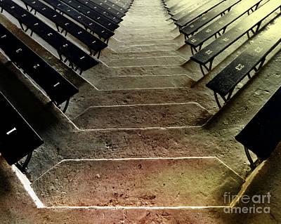 Philadelphia Photograph - Stadium Steps At The Palestra by Tom Gari Gallery-Three-Photography