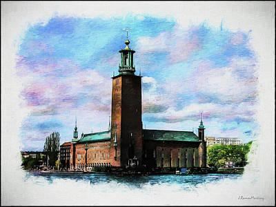 Stockholm Digital Art - Stadshuset Painting by Ramon Martinez