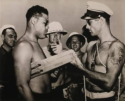 Bare-chested Photograph - Staff Sergeant Joe Louis, World by Everett