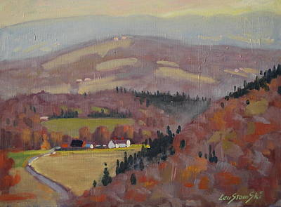 Berkshire Hills Painting - Stafford Hill From The Glen 2 by Len Stomski