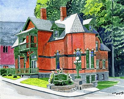 Painting - Stafford Springs Ct. Historical Society by Jeff Blazejovsky