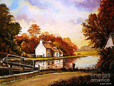 Staffordshire Painting - Staffordshire And Worcestershire Canal by Andrew Read