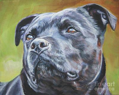 Staffordshire Bull Terrier Painting - Staffordshire Bull Terrier by Lee Ann Shepard