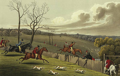 Horseman Drawing - Stag Hunting by Henry Thomas Alken