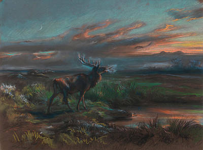 Stag Painting - The Call Of The Stag by Rosa Bonheur