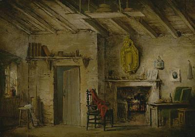 Bookshelf Painting - Stage Design For Heart Of Midlothian by Alexander Nasmyth