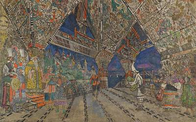 Le Coq Painting - Stage Design For Le Coq D'or by Konstantin Alexeevich Korovin