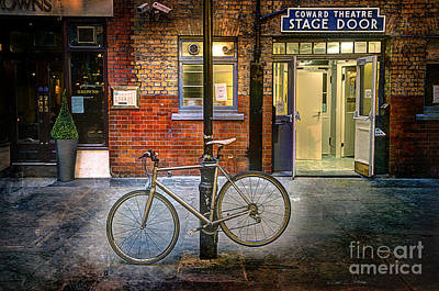 Photograph - Stage Door Bike by Craig J Satterlee