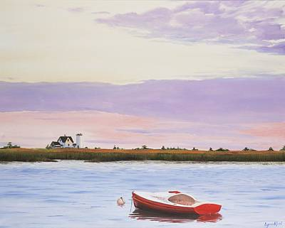 Chatham Lighthouse Painting - Stage Harbor Lighthouse, Chatham Ma by Lynn Ricci