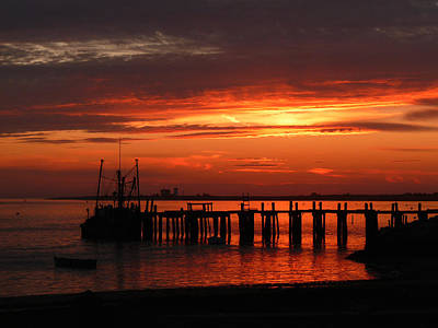 Chatham Photograph - Stage Harbor Sunset by Heather MacKenzie