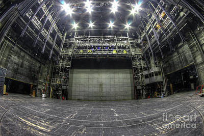 Stage In The Abandoned Theater Art Print