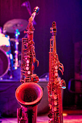 Photograph - Stage Sax by Kim Wilson