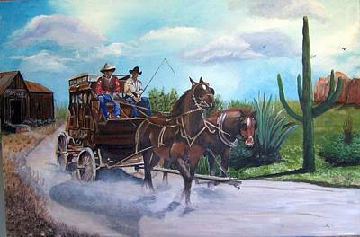 Painting - Stagecoach by Catherine Swerediuk