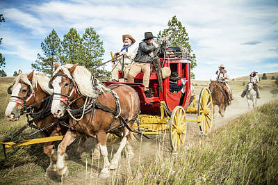 Photograph - Stagecoach Run by Steven Bateson