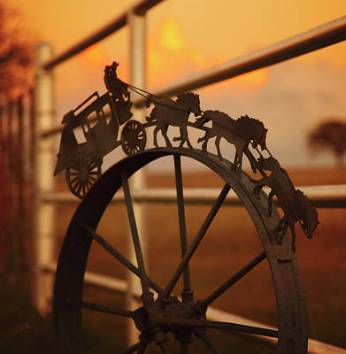 Bedspreads Photograph - Stagecoach Sunset by Toni Hopper