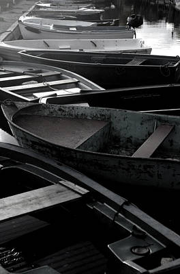 Staggered Boats Art Print by Jez C Self