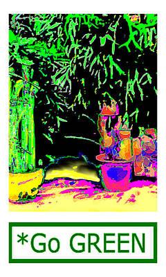 Staghorn Fern Go Green Jgibney The Museum Fineartamerica Gifts Art Print by jGibney The MUSEUM Artist Series jGibney