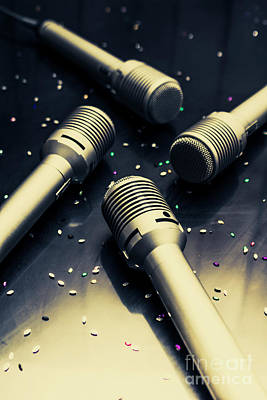 Mic Photograph - Staging A Disco by Jorgo Photography - Wall Art Gallery
