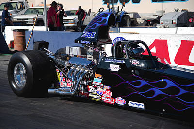 Photograph - Staging Dragster by Richard J Cassato