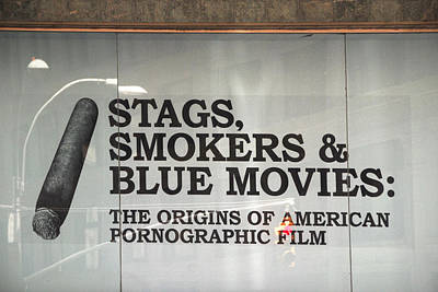 Stags Smokers And Blue Movies Art Print by James Zuffoletto